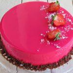 17777 Рецепт: Муссовый торт с зеркальной глазурью