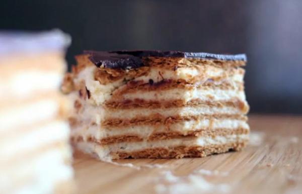 17864 Рецепт: Торт из печенья и творога