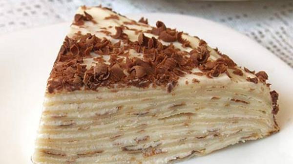 Рецепт: Торт блинный с творожным кремом