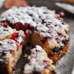 17365 Рецепт: Песочный торт с клюквой