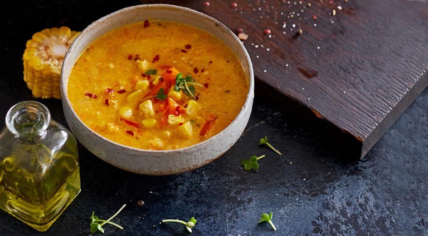 18659 Кукурузный суп со сладким перцем