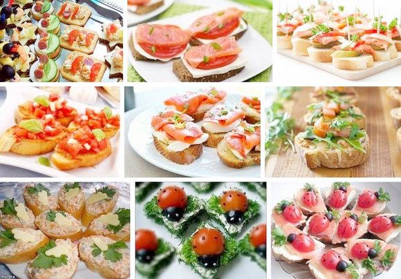 18892 Праздничные бутерброды - рецепты