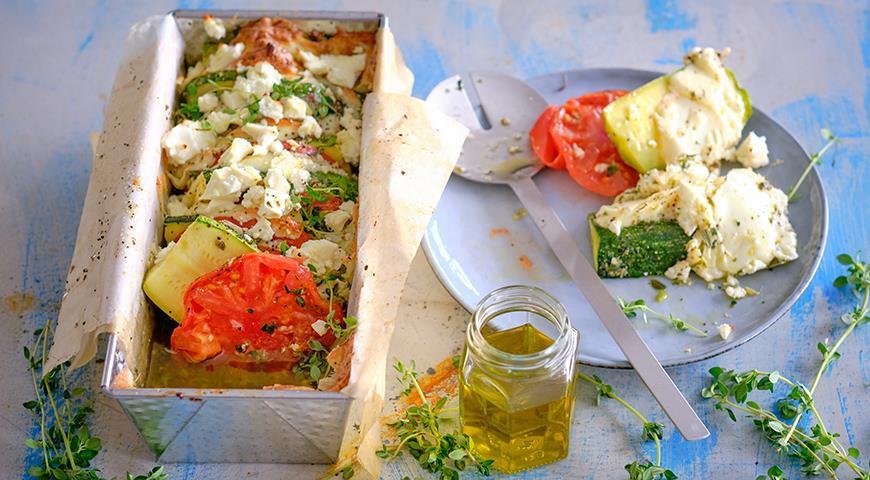 Закуска из кабачков с помидорами и сыром